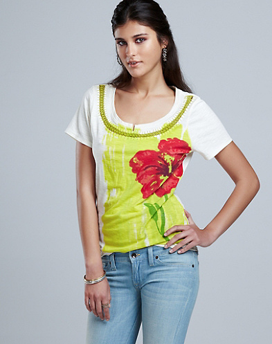 Painted Summer Flower T-Shirt