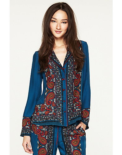 Paisley Pajama Jacket*