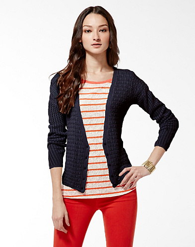 Paris Mixed Stitch Cardigan