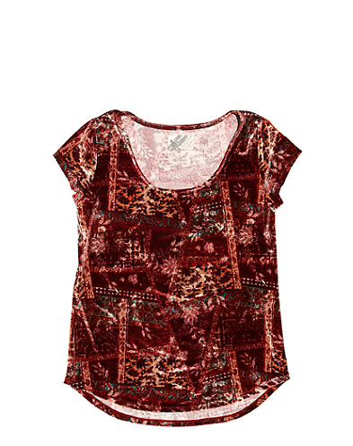 Patchwork Velvet Top*