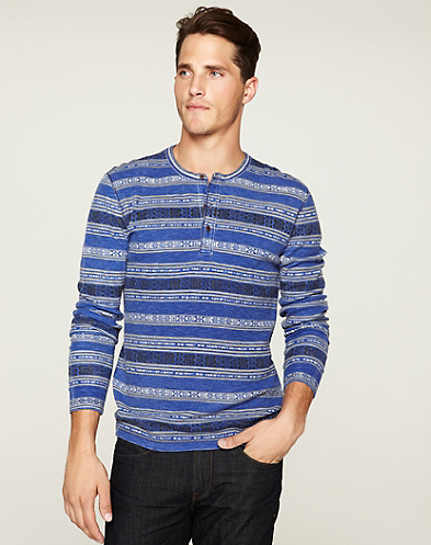 Pattern Striped Henley