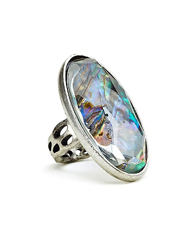 Pave Abalone Ring