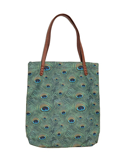 Peacock Canvas Tote