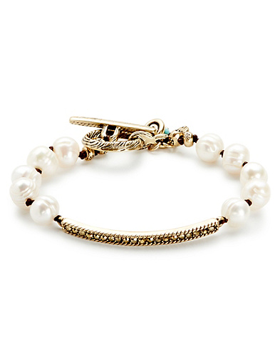 Pearl and Pave Bracelet