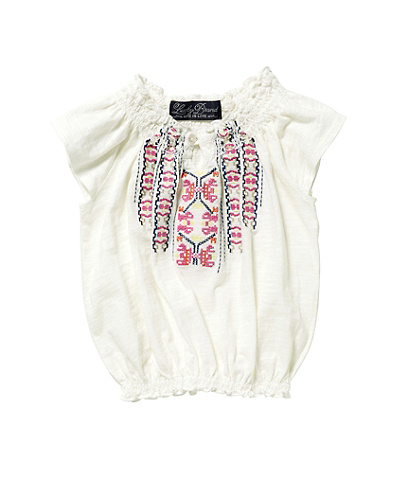 Peasant Embroidered Top