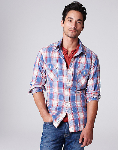 Plaid Two-Pocket Shirt