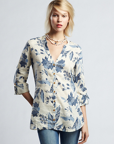 Polynesian Floral Tunic Top*