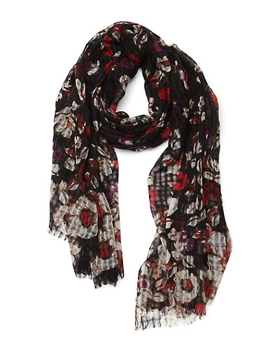 Poppy Floral Gauze Scarf*