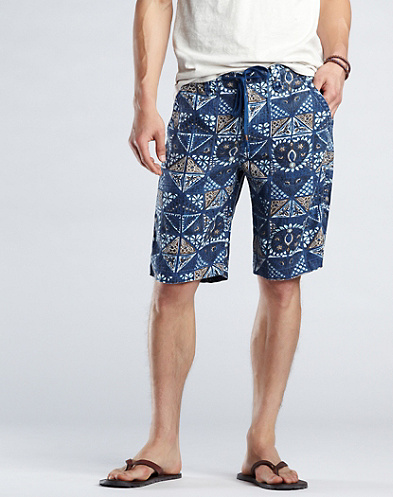 Printed Baja Linen Shorts*