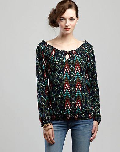 Printed Mena Smocked Top*
