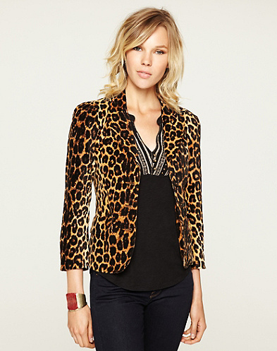 Printed Velvet Blazer*