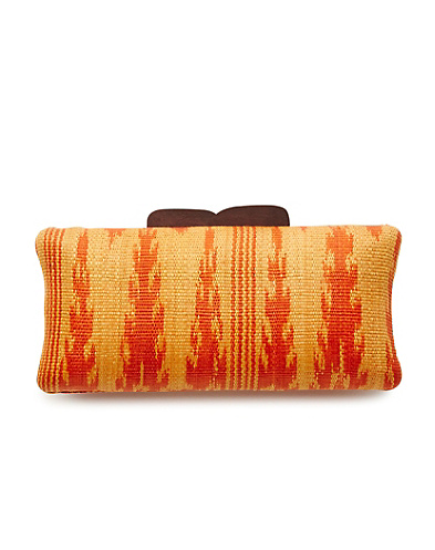 Rectangular Straw Clutch