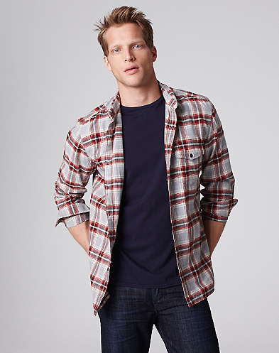 Red Feather Plaid Shirt*