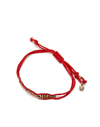 Red Gold Slide Knot Bracelet*