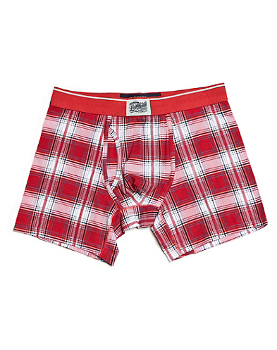 Red Madras Boxer Brief*