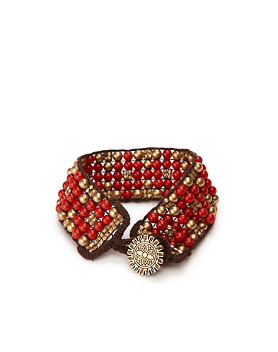 Red Multi Beaded Cuff*