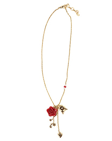 Red Rose Charm Necklace*