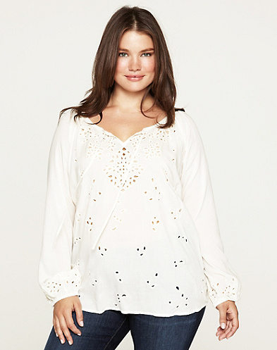 Rhiannon Cutout Peasant Top