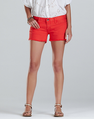 Riley Colorful Denim Shorts*