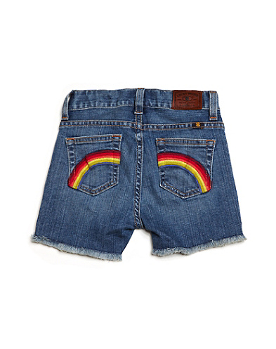 Riley Cutoff Rainbow Shorts