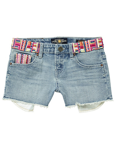 Riley Embroidered Denim Shorts