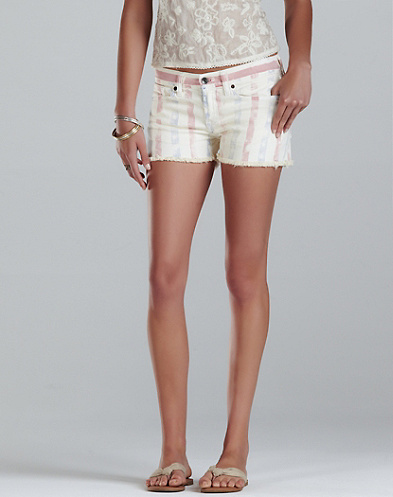 Riley Laser-Print Striped Shorts*