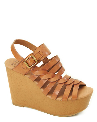 Rosemary Woven Leather Wedges*
