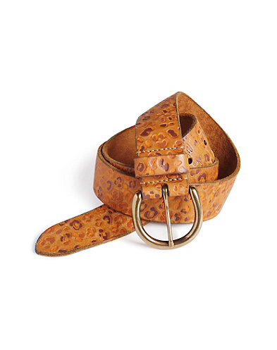 Roxanne Leopard Embossed Belt
