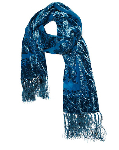 Ruza Velvet Burnout Scarf