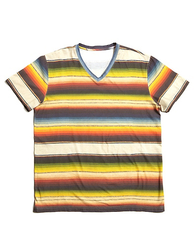 Sarape Striped V-Neck T-Shirt