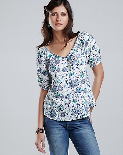 Sasha Batik Floral Top*