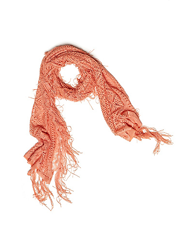Scallop Lace Fringed Scarf*
