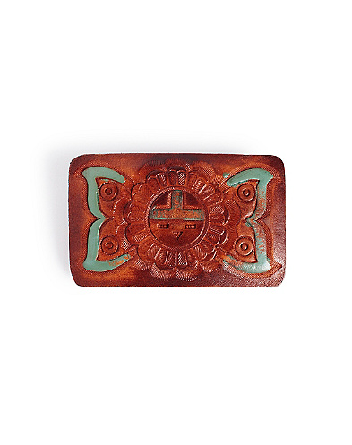 Sedona Leather Belt Buckle