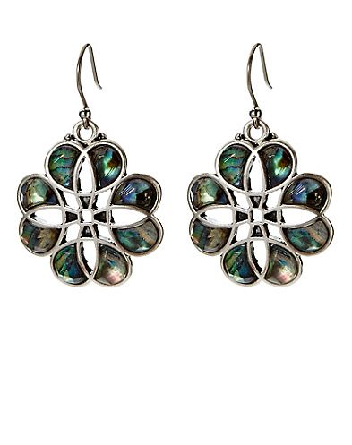Set Stone Abalone Earrings