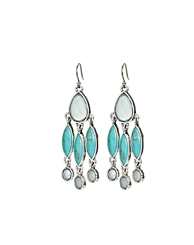 Set Stone Ombre Chandelier Earrings
