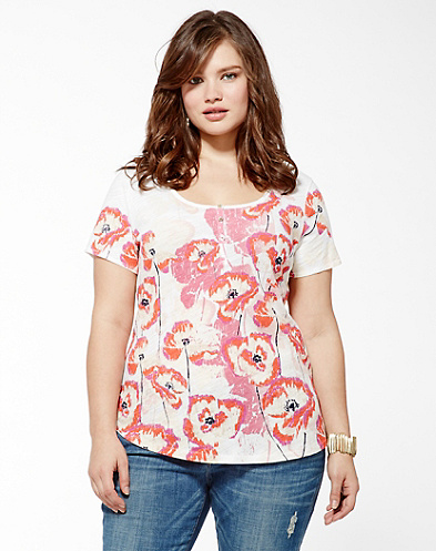 Shadow Poppy Henley T-Shirt