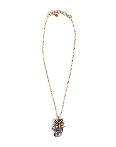 Shaky Owl Pendant Necklace*