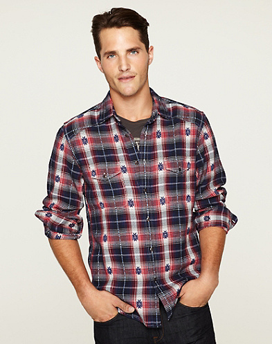 Shifter Plaid Western Shirt*