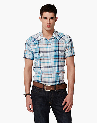 Short Sleeve Dobby Western Shirt