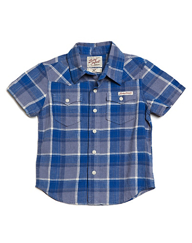 Short-Sleeved Subtle Western Shirt*