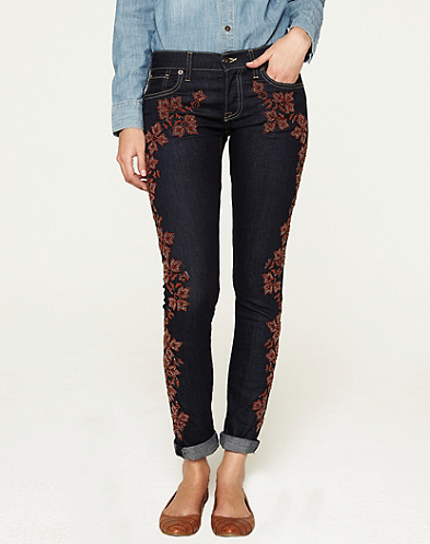 Sienna Cigarette Embroidered Jeans