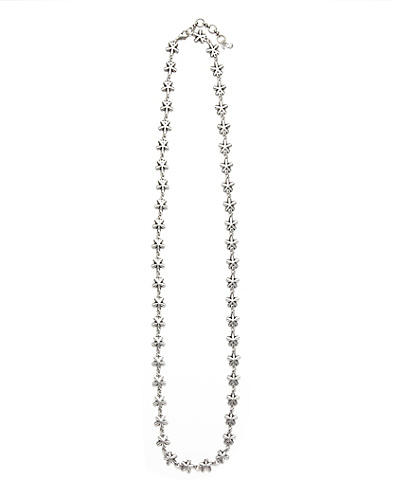 Silver Floral Strand Necklace