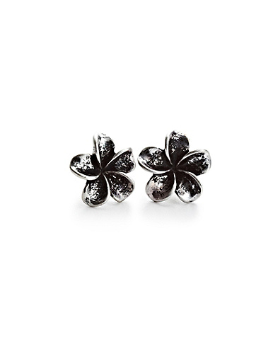 Silver Floral Stud