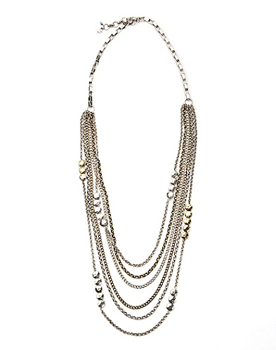 Silver Multi Layered Necklace*