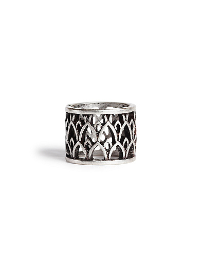 Silver Openwork Band Ring