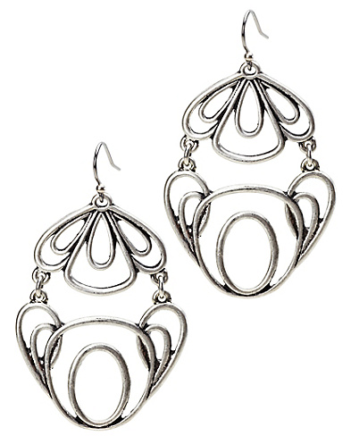 Silver Openwork Earrings*