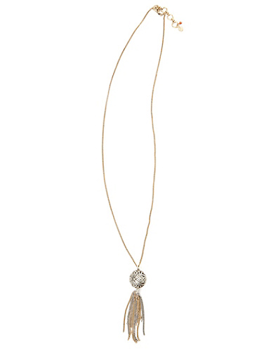 Silver Openwork Tassle Necklace