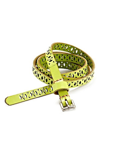 Skinny Perforated Stud Belt