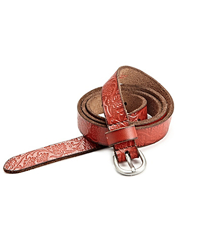 Skinny Tooled Belt