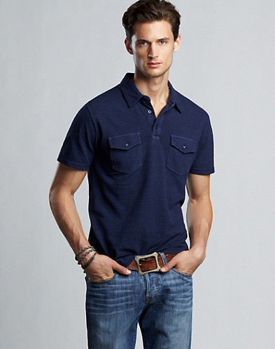 Slub Pique Two-Pocket Polo Shirt